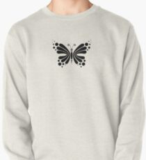 Hypnotic Butterfly B&W - Shee Vector Pattern Pullover