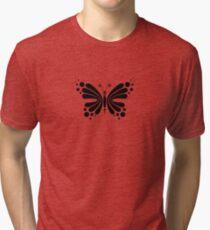 Hypnotic Butterfly B&W - Shee Vector Pattern Tri-blend T-Shirt
