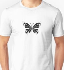 Hypnotic Butterfly B&W - Shee Vector Pattern Unisex T-Shirt