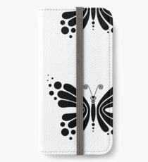 Hypnotic Butterfly B&W - Shee Vector Pattern iPhone Wallet/Case/Skin