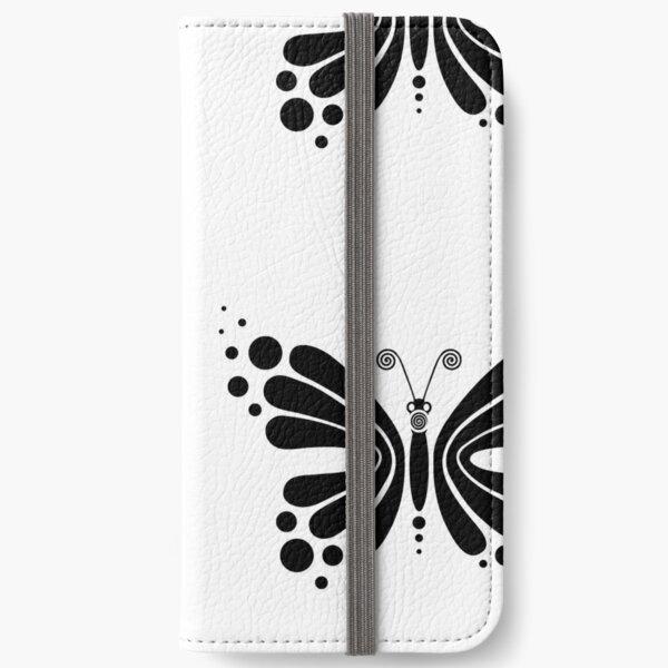 Hypnotic Butterfly B&W - Shee Vector Pattern iPhone Wallet