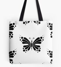 Hypnotic Butterfly B&W - Shee Vector Pattern Tote Bag