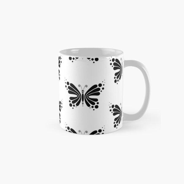 Hypnotic Butterfly B&W - Shee Vector Pattern Classic Mug
