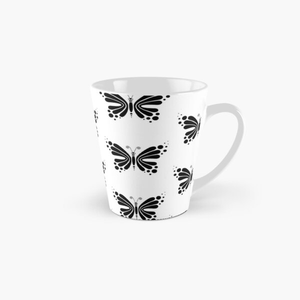 Hypnotic Butterfly B&W - Shee Vector Pattern Tall Mug
