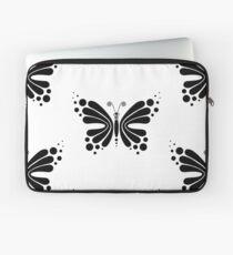 Hypnotic Butterfly B&W - Shee Vector Pattern Laptop Sleeve