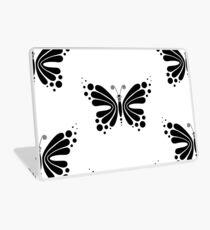 Hypnotic Butterfly B&W - Shee Vector Pattern Laptop Skin