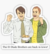 Peep Show   El Dude Brothers are back in town! Sticker