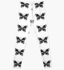 Hypnotic Butterfly B&W - Shee Vector Pattern Leggings