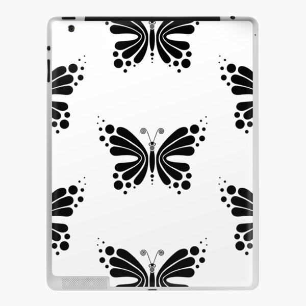 Hypnotic Butterfly B&W - Shee Vector Pattern iPad Skin