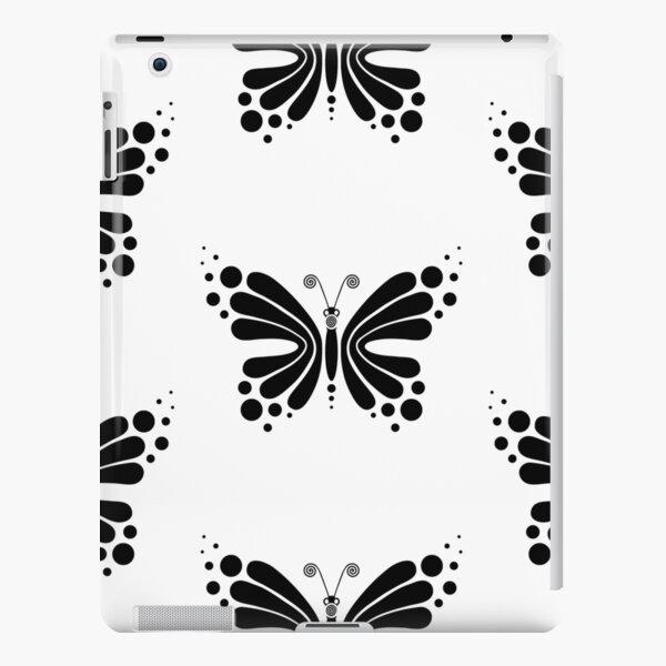 Hypnotic Butterfly B&W - Shee Vector Pattern iPad Snap Case