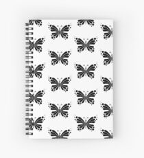 Hypnotic Butterfly B&W - Shee Vector Pattern Spiral Notebook