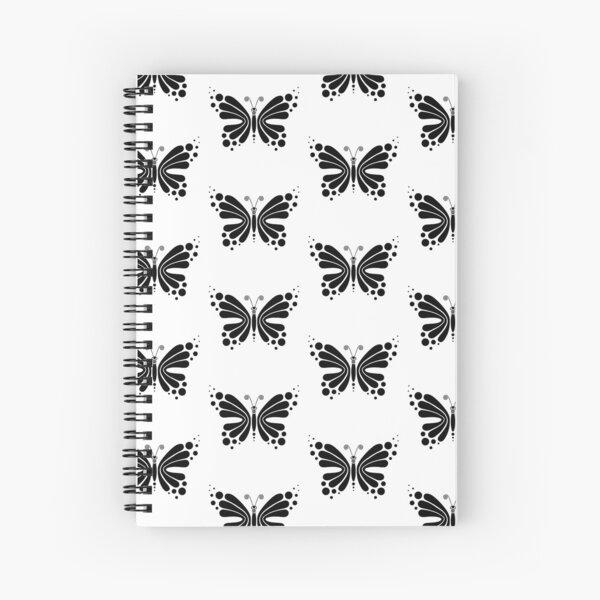 Hypnotic Butterfly B&W - Shee Vector Pattern Spiral Notebook