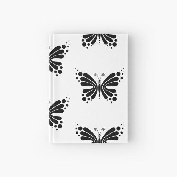 Hypnotic Butterfly B&W - Shee Vector Pattern Hardcover Journal