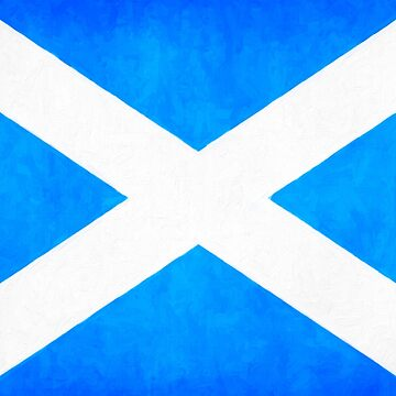 Vintage Flag Of Scotland - The Saltire by marksda1