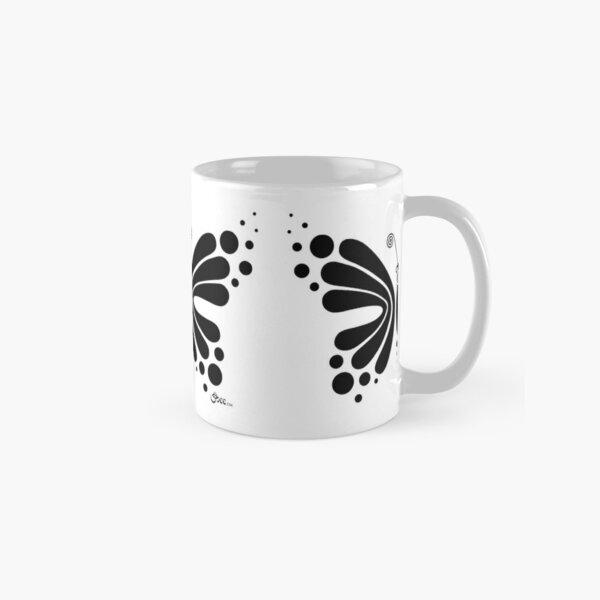 Hypnotic Butterfly B&W - Shee Vector Shape Classic Mug