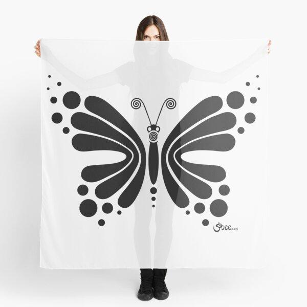 Hypnotic Butterfly B&W - Shee Vector Shape Scarf