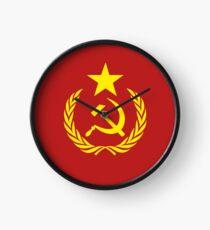 Communist Flag Clock