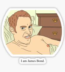 Jeremy Usbourne   I am James Bond Sticker