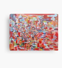 Red Hot Harbor Canvas Print