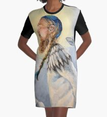 Nordic and Silver Graphic T-Shirt Dress