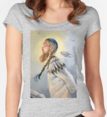 Nordic and Silver Women's Fitted Scoop T-Shirt