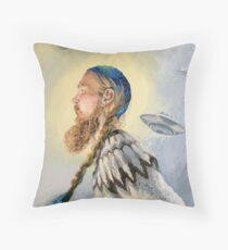 Nordic and Silver Throw Pillow