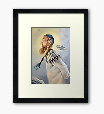 Nordic and Silver Framed Print