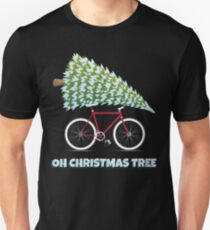 Christmas Bicycle Gifts Oh Christmas Tree Funny Cycling Gifts T-Shirt
