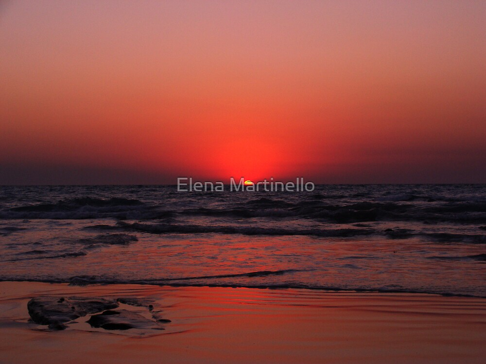 Sunset in Cable Beach by Elena Martinello