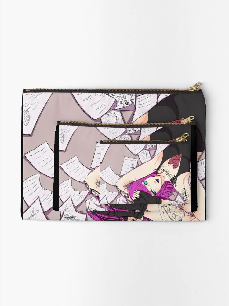 Alternate view of Made of Pages Zipper Pouch