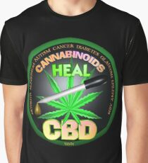 CBD Cannabinoids in Hemp oil Cures  learn truth about use of hemp oil to cure illness and pains. Graphic T-Shirt