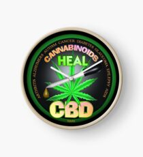 CBD Cannabinoids in Hemp oil Cures  learn truth about use of hemp oil to cure illness and pains. Clock