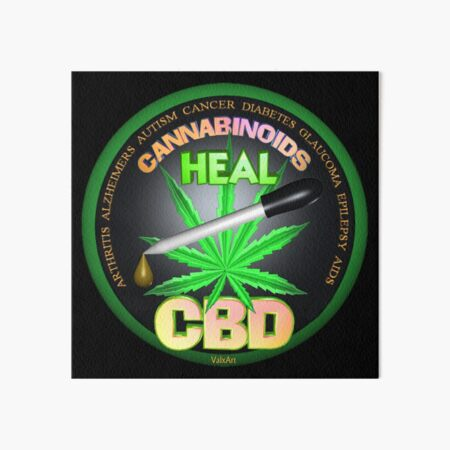 CBD Cannabinoids in Hemp oil Cures  learn truth about use of hemp oil to cure illness and pains. Art Board Print