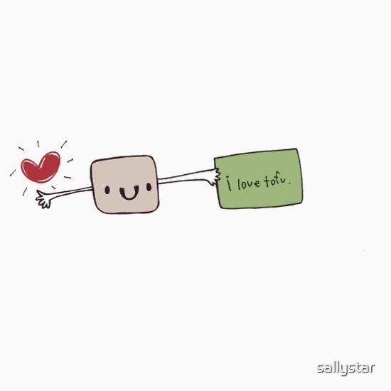 TShirtGifter presents: I Love Tofu