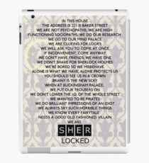 In this House We Do Sherlock iPad Case/Skin