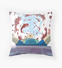 Finn The Human Throw Pillow