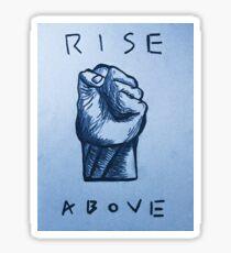 'RISE ABOVE' BLACK FLAG PRINT Sticker