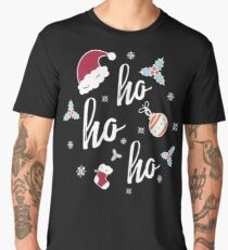 Cool Family Christmas Gifts Ho Ho Ho Merry Christmas Gifts Men's Premium T-Shirt