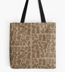 Viking Bunny Map Pattern Tote Bag