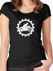 Vintage Motorcycle poster..... Women's Fitted Scoop T-Shirt