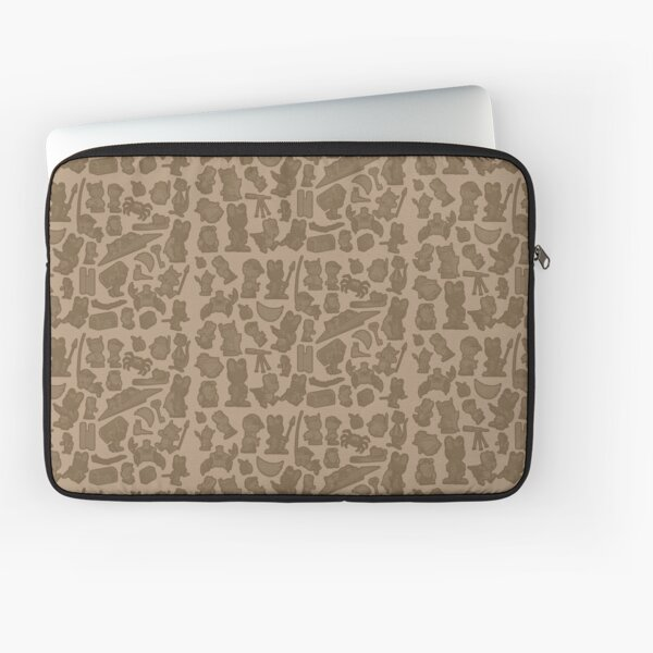 Viking Bunny Map Pattern Laptop Sleeve