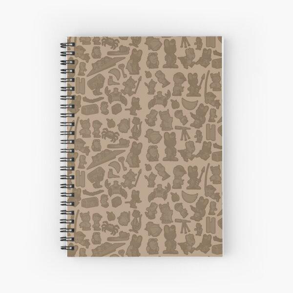 Viking Bunny Map Pattern Spiral Notebook