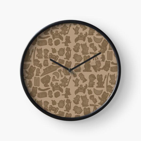 Viking Bunny Map Pattern Clock