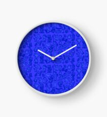 Blue Bunnies Clock