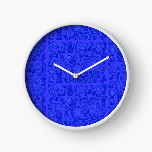 Blue Bunnies Clock