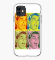 Ray Liotta Laugh mafia gangster movie Goodfellas painting multi-color iPhone Case
