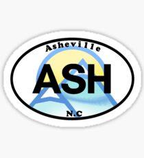 Asheville North Carolina UNC State Sticker Sticker
