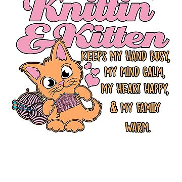 Funny Knitting and Kitten  by DBA-Dezines