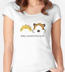 Calvin Hobbes cute Women's Fitted Scoop T-Shirt