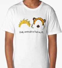 Calvin Hobbes cute Long T-Shirt